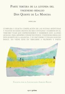 Parte tercera de la leyenda del yngenioso hidalgo Don quijote de La Mancha - Adrián Besné